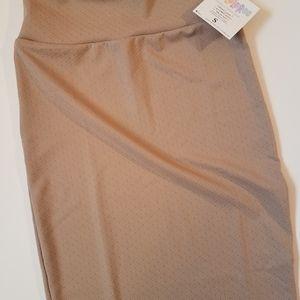 Lularoe Cassie Skirt in textured tan (S)
